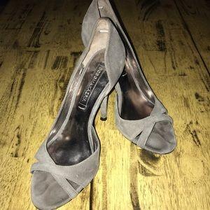 BCBGMaxAzria Women's Grey suede Stiletto Heels